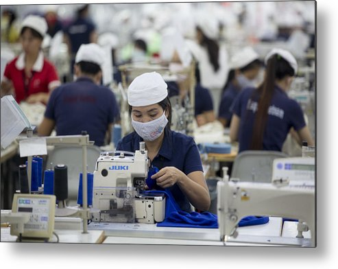 Industrial District Metal Print featuring the photograph Inside The Vietnam-Singapore Industrial Park As Most Companies Affected By Anti-China Protests Resume Operations by Bloomberg