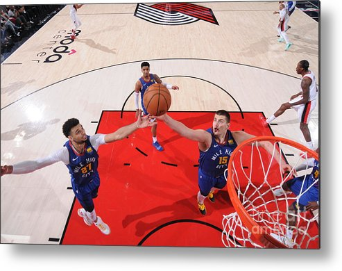Nba Pro Basketball Metal Print featuring the photograph Jamal Murray by Sam Forencich