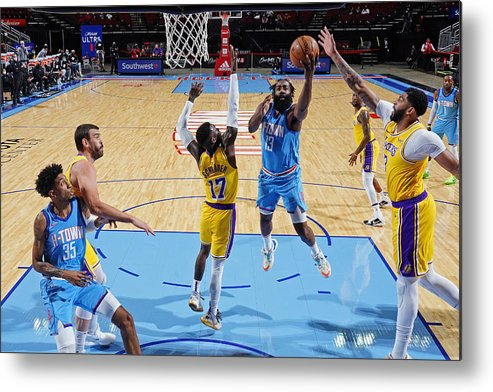 Nba Pro Basketball Metal Print featuring the photograph James Harden by Cato Cataldo