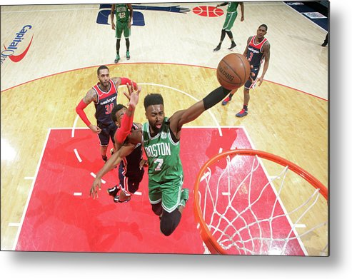 Nba Pro Basketball Metal Print featuring the photograph Jaylen Brown by Ned Dishman