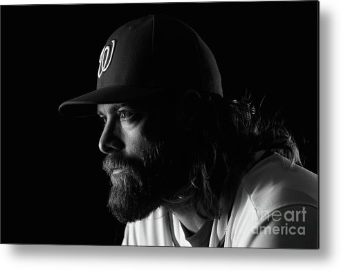 Media Day Metal Print featuring the photograph Jayson Werth by Chris Trotman
