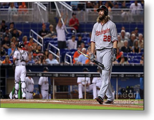 People Metal Print featuring the photograph Jayson Werth by Mike Ehrmann