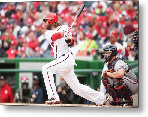 National League Baseball Metal Print featuring the photograph Jayson Werth by Mitchell Layton