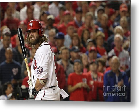 Three Quarter Length Metal Print featuring the photograph Jayson Werth by Patrick Smith