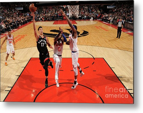 Nba Pro Basketball Metal Print featuring the photograph Jeremy Lin by Ron Turenne