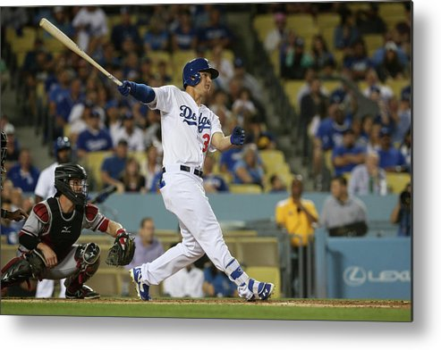 Second Inning Metal Print featuring the photograph Joc Pederson by Stephen Dunn