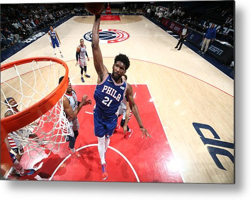 Playoffs Metal Print featuring the photograph Joel Embiid by Ned Dishman