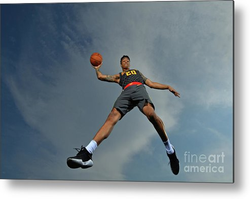 Nba Pro Basketball Metal Print featuring the photograph John Collins by Jesse D. Garrabrant