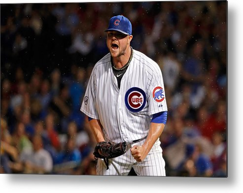The End Metal Print featuring the photograph Jon Lester by Jon Durr