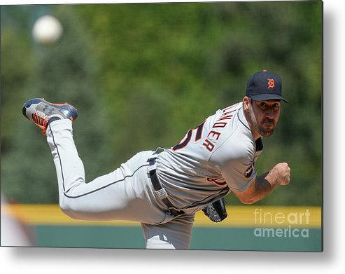 People Metal Print featuring the photograph Justin Verlander by Dustin Bradford