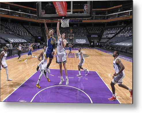 Nba Pro Basketball Metal Print featuring the photograph Kelly Oubre and Nemanja Bjelica by Rocky Widner
