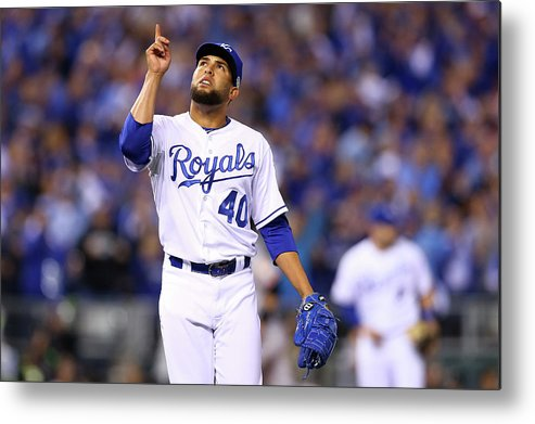 Game Two Metal Print featuring the photograph Kelvin Herrera by Elsa