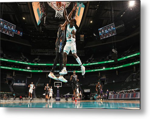 Nba Pro Basketball Metal Print featuring the photograph Kevin Durant and Terry Rozier by Kent Smith