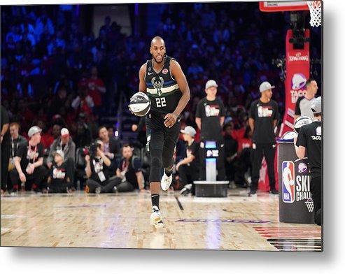 Nba Pro Basketball Metal Print featuring the photograph Khris Middleton by Jesse D. Garrabrant