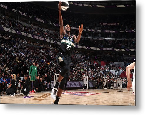 Nba Pro Basketball Metal Print featuring the photograph Khris Middleton by Nathaniel S. Butler