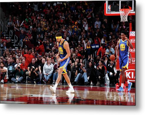 Nba Pro Basketball Metal Print featuring the photograph Klay Thompson by Jeff Haynes