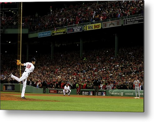 Playoffs Metal Print featuring the photograph Koji Uehara by Rob Carr