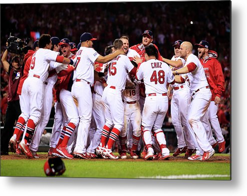 St. Louis Cardinals Metal Print featuring the photograph Kolten Wong by Jamie Squire