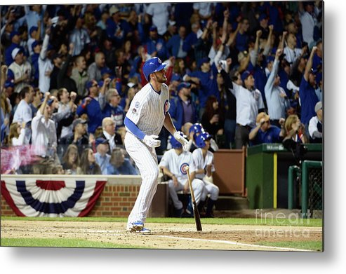 People Metal Print featuring the photograph Kris Bryant by David Banks