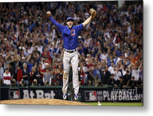 People Metal Print featuring the photograph Kris Bryant by Ezra Shaw