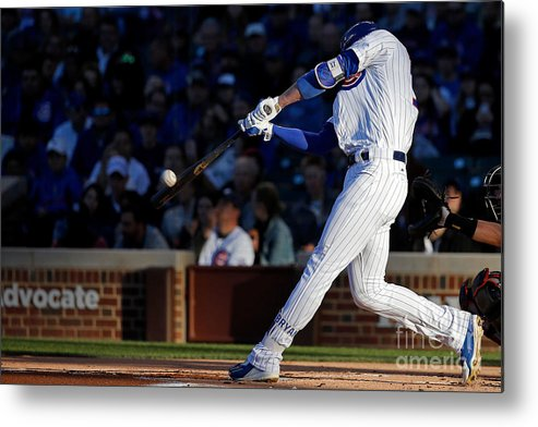 People Metal Print featuring the photograph Kris Bryant by Jon Durr
