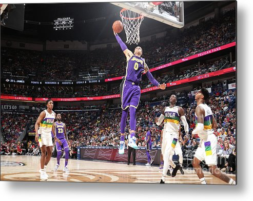 Smoothie King Center Metal Print featuring the photograph Kyle Kuzma by Nathaniel S. Butler