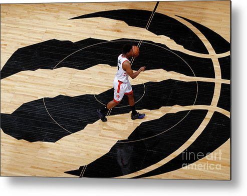 Playoffs Metal Print featuring the photograph Kyle Lowry by Mark Blinch
