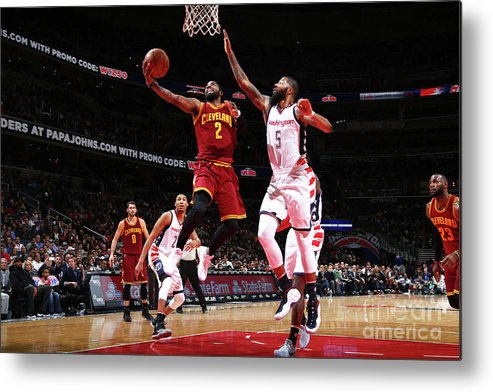 Nba Pro Basketball Metal Print featuring the photograph Kyrie Irving by Ned Dishman