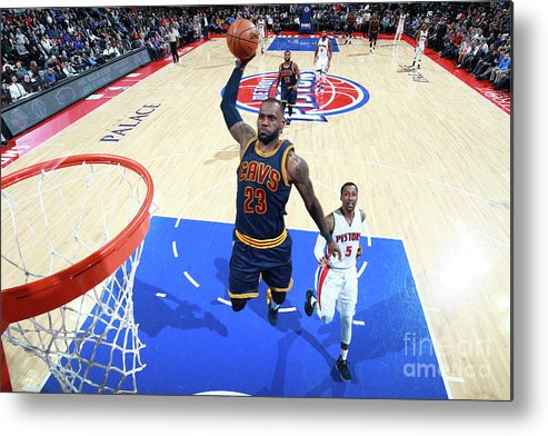 Nba Pro Basketball Metal Print featuring the photograph Lebron James by Brian Sevald