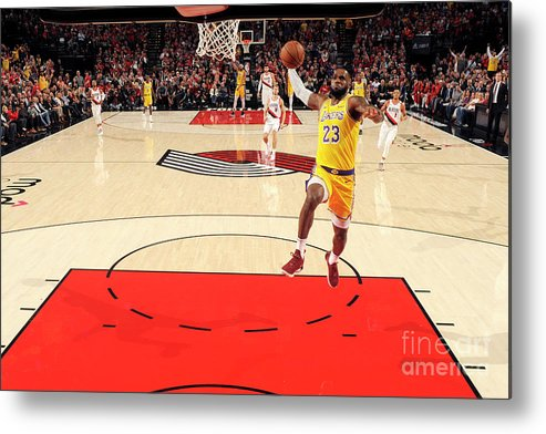 Nba Pro Basketball Metal Print featuring the photograph Lebron James by Cameron Browne