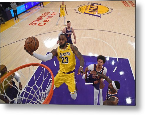 Playoffs Metal Print featuring the photograph Lebron James by Juan Ocampo