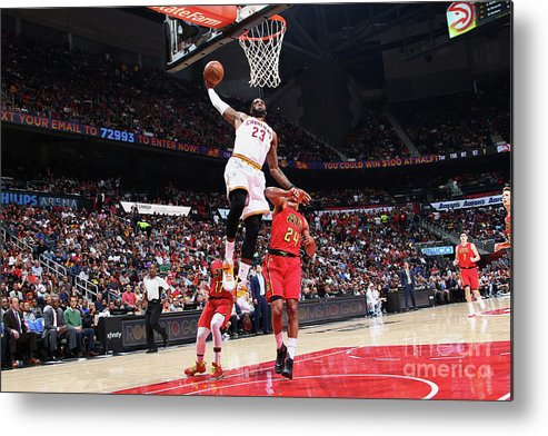 Atlanta Metal Print featuring the photograph Lebron James by Kevin Liles