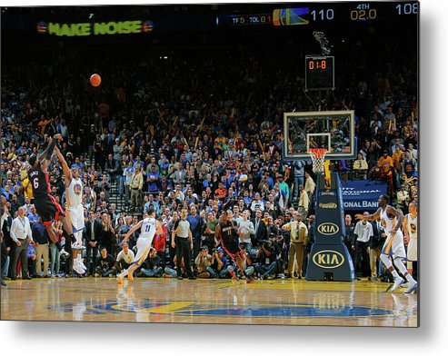 Nba Pro Basketball Metal Print featuring the photograph Lebron James by Rocky Widner
