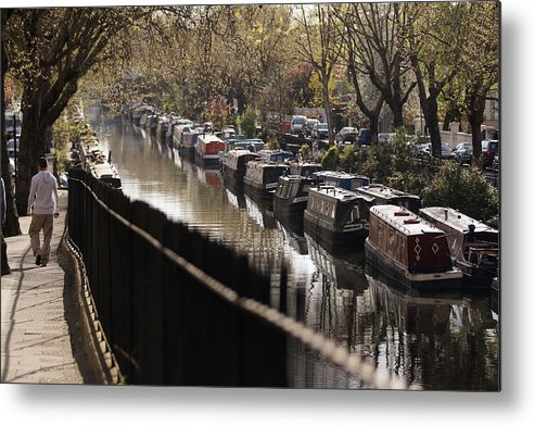 England Metal Print featuring the photograph Londoners Enjoy The Warm Spring Weather by Oli Scarff