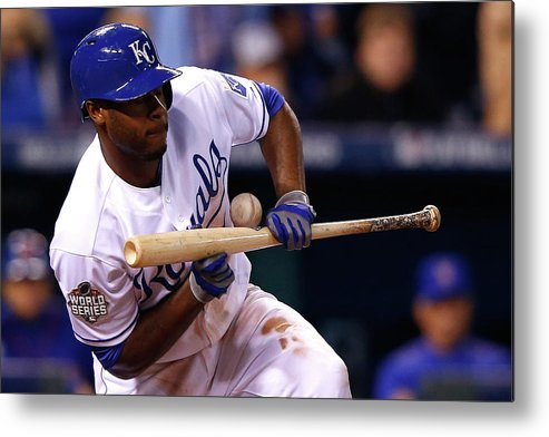 Three Quarter Length Metal Print featuring the photograph Lorenzo Cain by Jamie Squire
