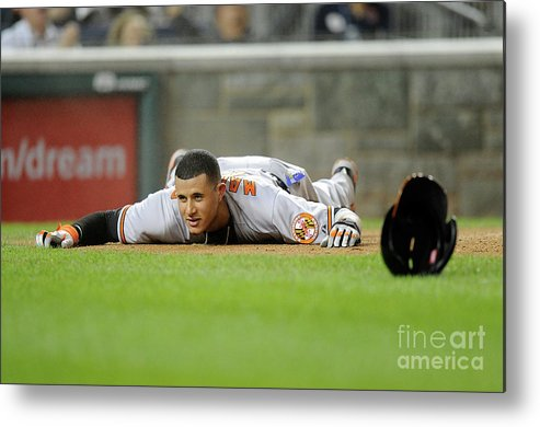 People Metal Print featuring the photograph Manny Machado by Greg Fiume