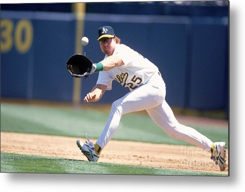 1980-1989 Metal Print featuring the photograph Mark Mcgwire by Jeff Carlick