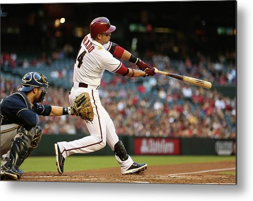 National League Baseball Metal Print featuring the photograph Martin Prado by Christian Petersen