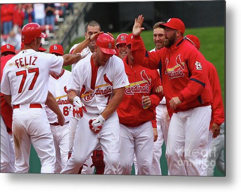 St. Louis Cardinals Metal Print featuring the photograph Matt Holliday by Dilip Vishwanat