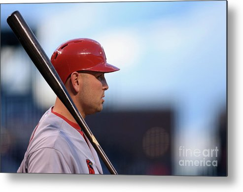 St. Louis Cardinals Metal Print featuring the photograph Matt Holliday by Doug Pensinger