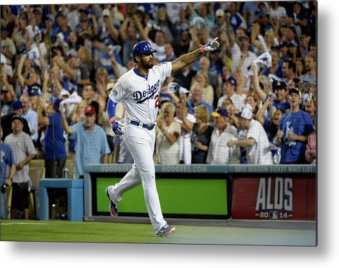 Game Two Metal Print featuring the photograph Matt Kemp by Harry How