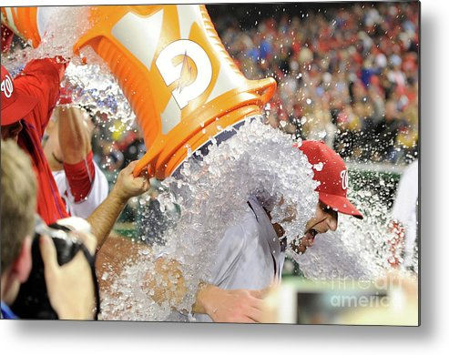 People Metal Print featuring the photograph Max Scherzer by Greg Fiume