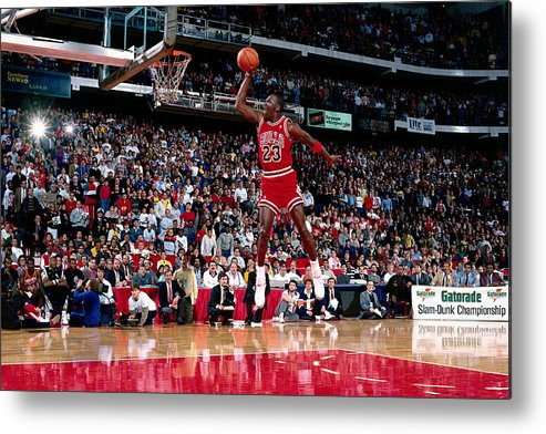 Chicago Bulls Metal Print featuring the photograph Michael Jordan by Andrew D. Bernstein