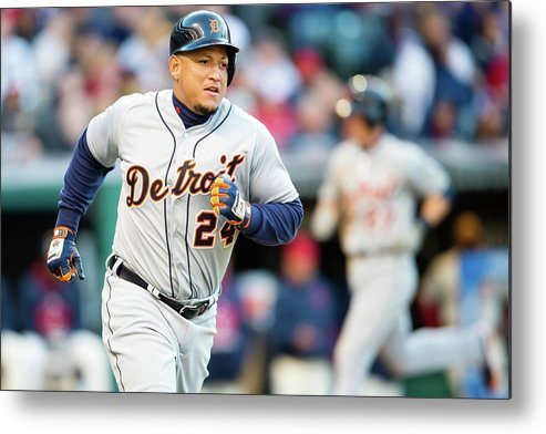 American League Baseball Metal Print featuring the photograph Miguel Cabrera by Jason Miller
