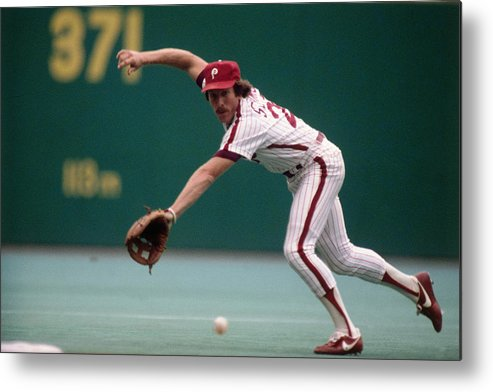 1980-1989 Metal Print featuring the photograph Mike Schmidt by Ronald C. Modra/sports Imagery