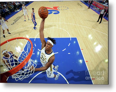 Nba Pro Basketball Metal Print featuring the photograph Myles Turner by Jesse D. Garrabrant