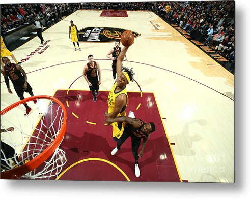 Playoffs Metal Print featuring the photograph Myles Turner by Nathaniel S. Butler