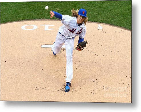 People Metal Print featuring the photograph Noah Syndergaard by Mike Stobe