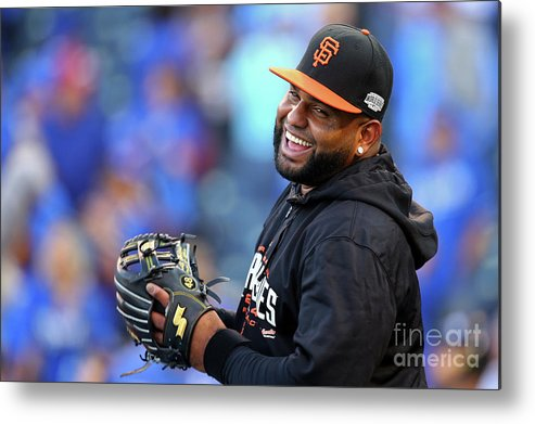 Game Two Metal Print featuring the photograph Pablo Sandoval by Dilip Vishwanat