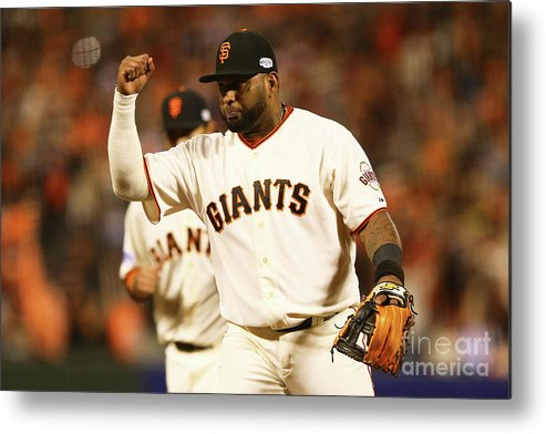 San Francisco Metal Print featuring the photograph Pablo Sandoval by Elsa